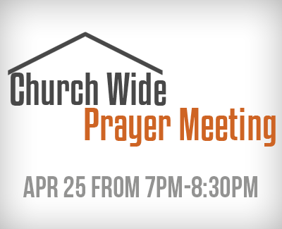 Prayer Meeting April 25