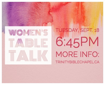 Womens TableTalk Sept 18