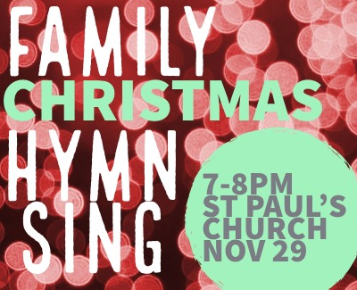 Christmas Family Hymn sing Nov 29