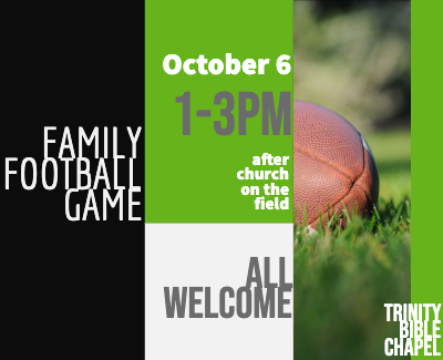Family Football Game Oct 6