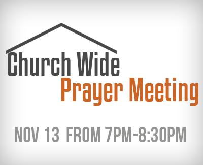 Prayer Meeting Nov 13